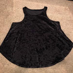 Tops - Black crushed velvet top